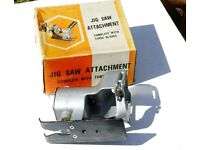 Jig saw attachment for Black & Decker drill.