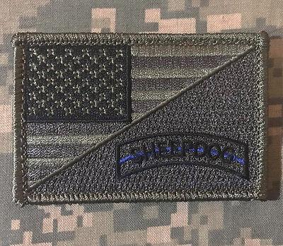 USA FLAG SHEEPDOG TACTICAL MORALE BADGE ACU DARK VELCRO® BRAND FASTENER PATCH