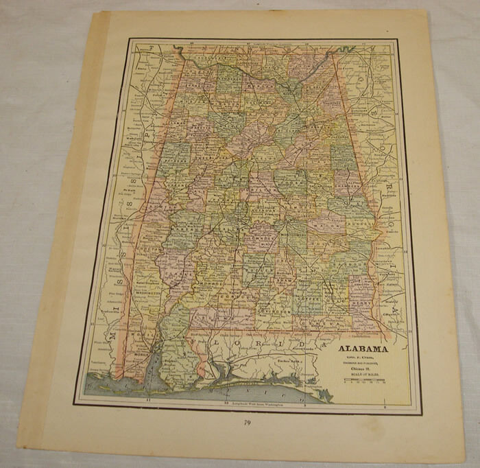 c1891 COLOR MAP of ALABAMA