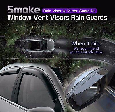 Smoke Window Sun Vent Visor Rain K-901-118 Guards For KIA 2012-17 Rio Hatchback