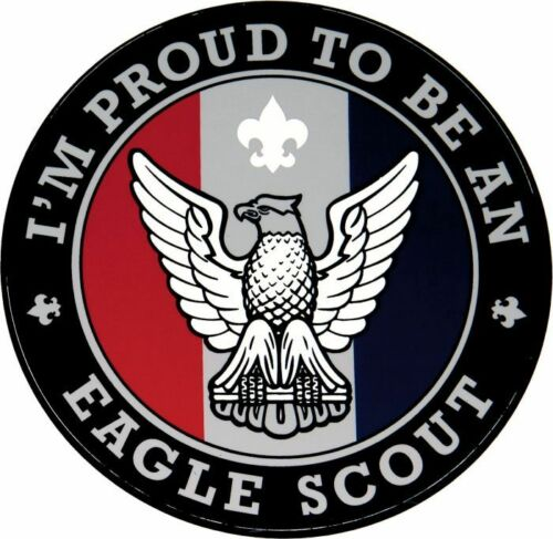 """BOY SCOUT OFFICIAL IM PROUD TO BE AN  EAGLE SCOUT BIG 4"""" VINYL STICKER BRAND NEW"""