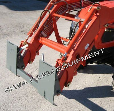 Branson Sl100 Kioti Kl2510 Pin-on Loader To Skidsteer Quick Attach Adapter