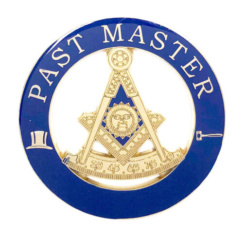 Masonic Past Master car emblem 3 inch gold #CD13