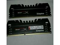 8gb HyperX beast 2400mhz DDR3 pc gaming ram