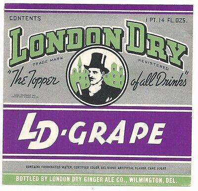 1940's London Dry LD-Grape Label - Wilmington, DE