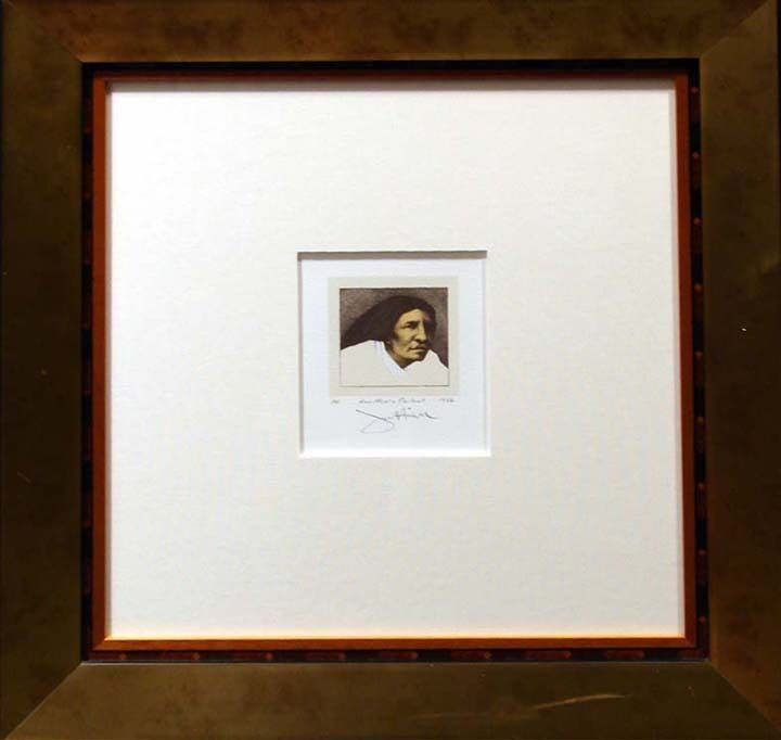 Frank Howell New Mexico Portrait 86 Signed Original Lithograph Art Framed Hs Obo