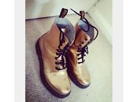 gold dr.martin boots