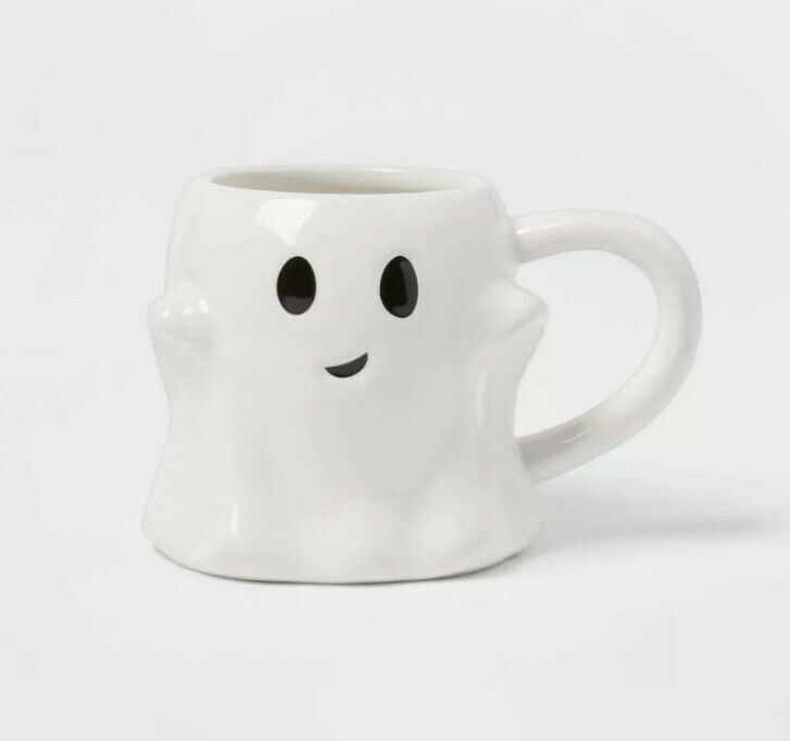 Ghost Mug 10 oz. Stoneware from Threshold - NEW Target Halloween '21 *FAST SHIP*