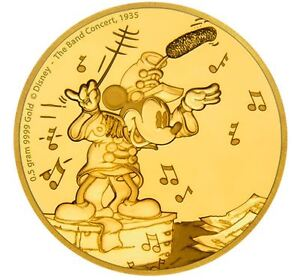 Mickey Mouse collectible gold coin