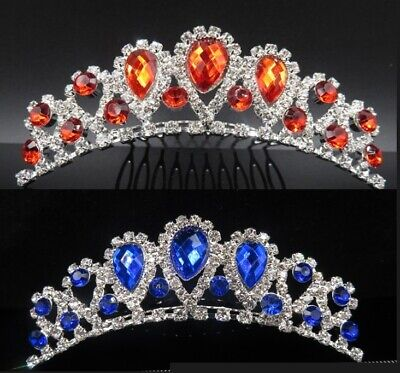 Rhinestone Tiara Crown Princess Princess Girl Children Birthday Wedding Comb](Birthday Girl Crown)