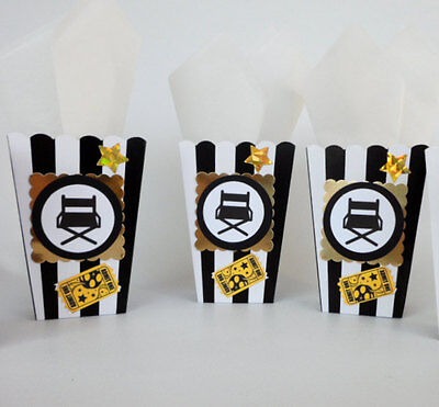 Movie Night Theme Party favors. Popcorn, candy box, snack 10 PIECES - Hollywood Theme Party Favors