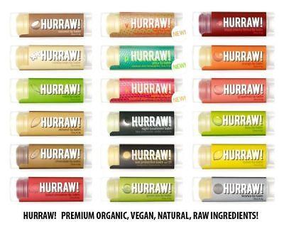 Hurraw! Premium Organic Vegan Raw Lip Balm - All Flavours