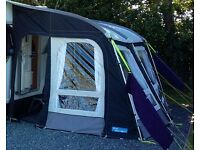 Awning. Caravan Awning. Kampa Rally Pro 330. Used Once, inc Monsoon poles.