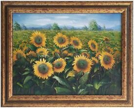 Original Oil Painting titled 'Sunflowers' by Charles Benolt