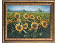 Sunflowers by Charles Benolt (Original Oil Painting)