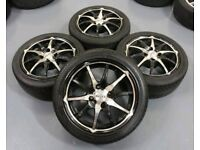 "DOTZ 15"" 4X108 ALLOY WHEELS + TYRES FORD CITREON PEUGEOT"