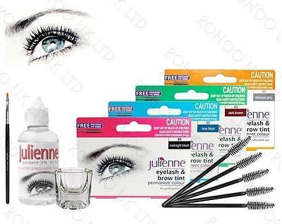 Julienne Professional Eyelash & Eyebrow Dye Tinting Lash Kit and Tint Pads - Lash Tint Kit
