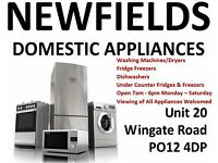 Fridges - OPEN MONDAY - SATURDAY 7am - 8pm - Newfields Domestic Appliances - Gosport