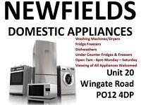 Condenser/Tumble Dryers - Washing Machines - Fridge Freezers - Newfields Domestic Appliances