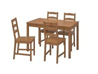 Ikea Dining Table and 4 Chairs (with seat pads)