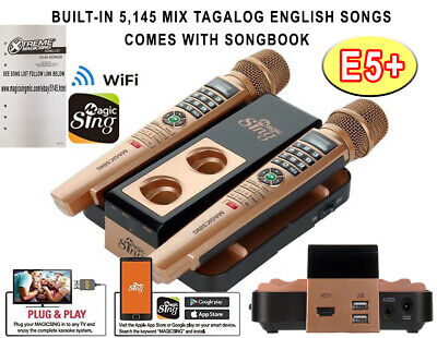 E5+ MAGIC SING Karaoke WiFi 2 Wireless FREE 1YR SUBSCRIBE 5145 BUILT-IN SONGS for sale  Shipping to India