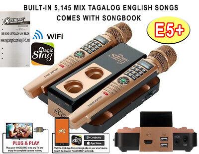 E5+ MAGIC SING Karaoke WiFi 2 Wireless FREE 1YR SUBSCRIBE 5145 BUILT-IN -