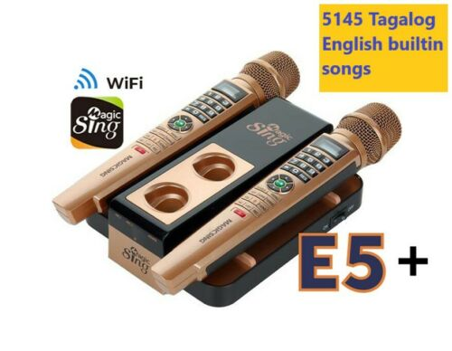 2020 MAGIC SING Karaoke E5+ 5000+ Tagalog/Eng songs WiFi 2 Wireless Mic 1YR sub