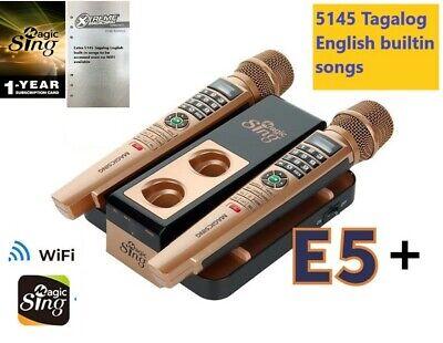 2020 MAGIC SING Karaoke E5+ 5145 Tagalog/Eng songs WiFi 2 Wireless Mic 1YR sub -