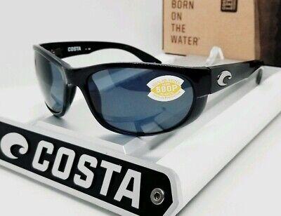 COSTA DEL MAR black/gray HOWLER POLARIZED 580P sunglasses! NEW IN (Costa Howler 580p)