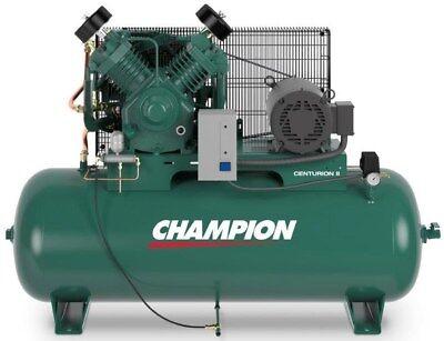 Champion Air Compressor Hrv10-12 10 Hp 120 Gal 3 Phase 230 Volt With Auto Drain