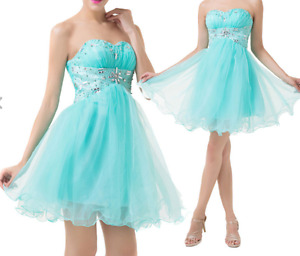 NEW Size 6 STRAPLESS PARTY EVENING WEDDING GRAD PROM BALL DRESS