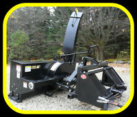 """Skid steer snow blowers, 50 - 80"""" sizes, NEW. 16-22 gpm"""
