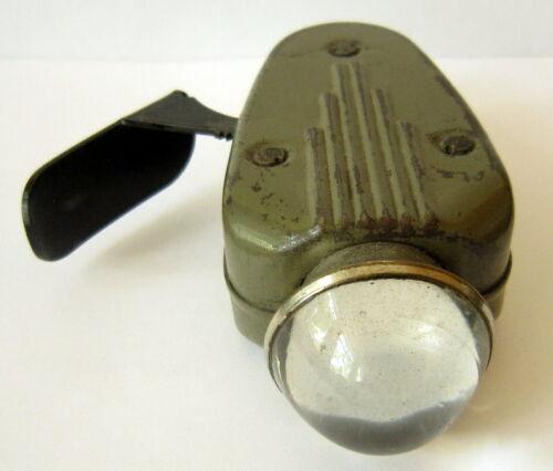 GERMAN WEHRMACHT FLASHLIGHT WWII PHILIPS DYNAMO LIGHT 7424 WORKING # 409