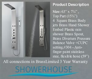 Bathroom Shower Panel- Top of the Line $ 449.00 Special offer