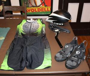 TT TRI Package Seatpost CASQUE helmet SADDLE Shoes SOULIERS suit