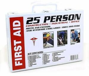 Home office Commercial business 25 Person Medical First Aid Kit Health Care ansi - BRAND NEW - FREE SHIPPING