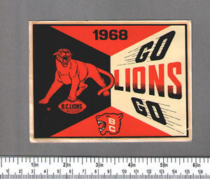 WTB: BC Lions Decals - Stickers