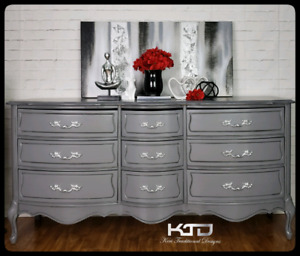 Grey Wood Sideboard or Dresser