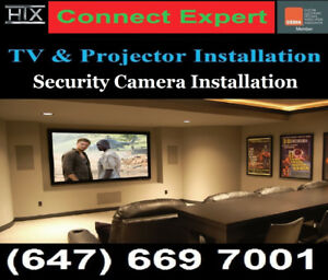 Professional TV Wall mounting service,From 70 $ - 647-669-7001