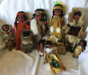 First Nations Dolls in Original Costumes