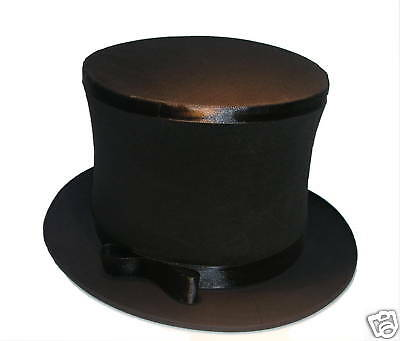 PRO FOLDING TOP HAT Collapsible Magician Costume Magic Trick Spring Black Pop Up