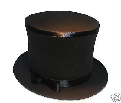 PRO FOLDING TOP HAT Collapsible Magician Costume Magic Trick Spring Black Pop Up - Collapsible Top Hats