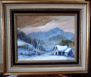 "Evening Golden Sky, Orillia Artist Glenn Dalley ""Golden Valley"