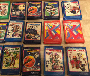 Large Lot of Vintage Intellivision Games