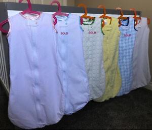 SwaddleDesigns Cotton zzZipMe Sleep Sacks / Bags 6-12mo