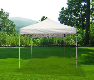 Patio White Canopies Tent 10'x10' Gazebo Tente Canopée 18005