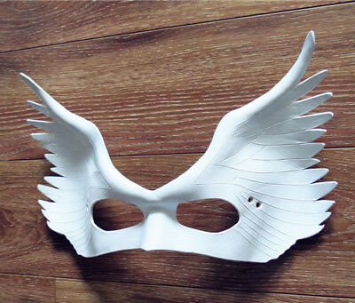 Masquerade Half Face Mask Halloween White Angle Wings Masks Men And Women - Half And Half Face Halloween