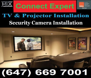 Professional TV Wall Mounting Service **connect expert.ca**