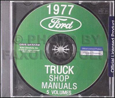1977 Ford Truck Repair Shop Manual CD Pickup Bronco Van F100 F150 F250 F350