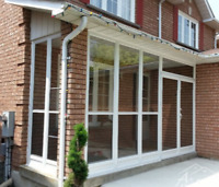 Front Porch Aluminum Glass Enclosure Main entrance Mississauga